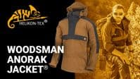 Helikon Woodsman Anorak Jacket - Black & Taiga Green